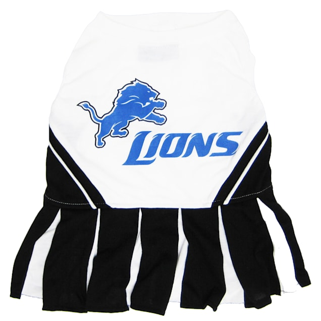 Pets First Detroit Lions NFL Cheerleader Outfit, X-Small - Carousel image #1