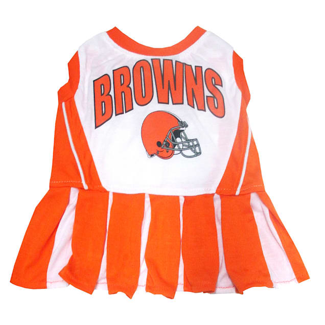 Pets First Cleveland Browns NFL Cheerleader Outfit, X-Small - Carousel image #1
