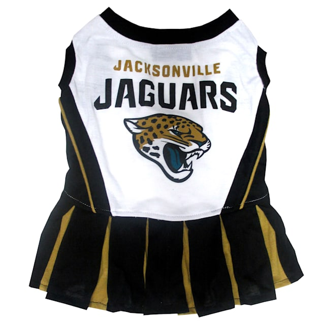 Pets First Jacksonville Jaguars NFL Cheerleader Outfit, Extra Small - Carousel image #1