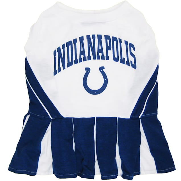 Pets First Indianapolis Colts NFL Cheerleader Outfit, X-Small - Carousel image #1