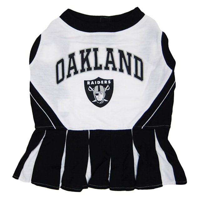 Pets First Oakland Raiders NFL Cheerleader Outfit, X-Small - Carousel image #1