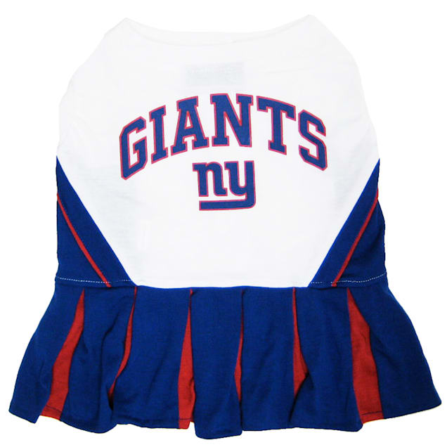 Pets First New York Giants NFL Cheerleader Outfit, X-Small - Carousel image #1