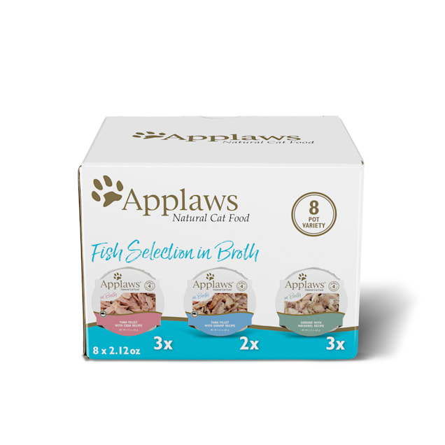 Applaws Natural Pot Multipack Fish Selection Wet Cat Food, 2.12 oz., Count of 8 - Carousel image #1