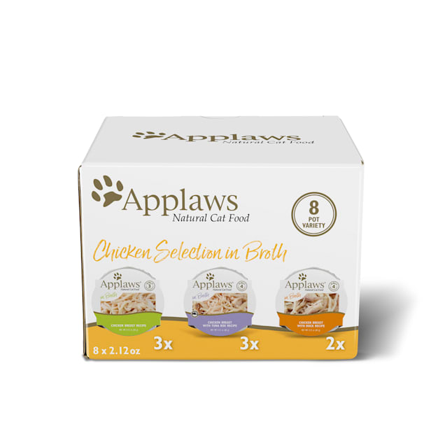 Applaws Chicken Selection Multipack Wet Cat Food, 2.12 oz., Count of 8 - Carousel image #1