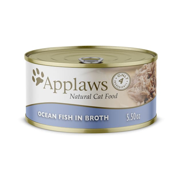 Applaws Natural Ocean Fish in Broth Wet Cat Food, 5.5 oz., Case of 24 - Carousel image #1