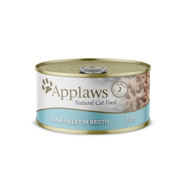 Applaws Natural Tuna Fillet in Broth Wet Cat Food, 2.47 oz., Case of 24 - Carousel image #1