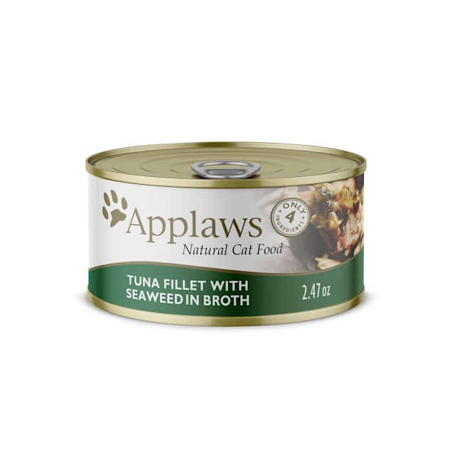 Applaws Natural Tuna with Seaweed in Broth Wet Cat Food, 2.47 oz., Case of 24 - Carousel image #1
