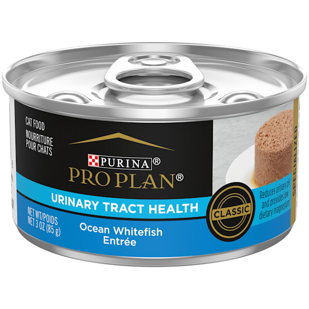 Purina Pro Plan Focus Urinary Tract Health Formula Ocean Whitefish Entree Pate Wet Cat Food, 3 oz., Case of 24 - Carousel image #1