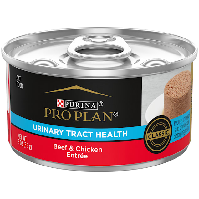 Purina Pro Plan Focus Urinary Tract Health Classic Beef & Chicken Entree Wet Cat Food, 3 oz. - Carousel image #1