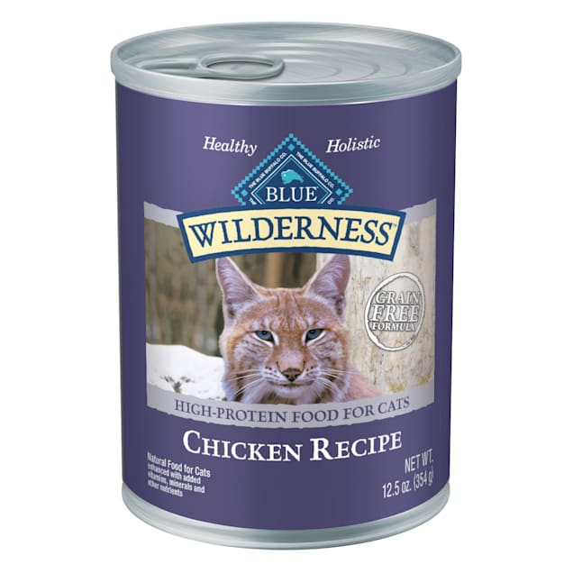 Blue Buffalo Blue Wilderness Chicken Canned Cat Food, 12.5 oz., Case of 12 - Carousel image #1
