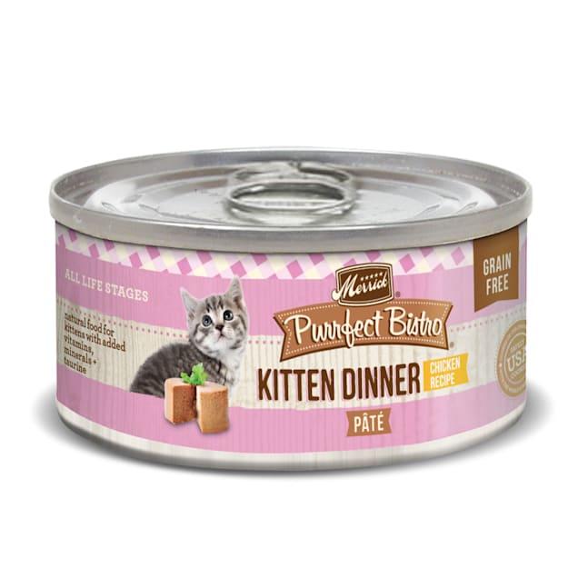 Merrick Purrfect Bistro Grain Free Kitten Dinner Pate Wet Cat Food, 3 oz., Case of 24 - Carousel image #1