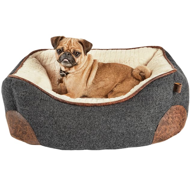 "Harmony Grey Nester Memory Foam Dog Bed, 24"" L x 18"" W - Carousel image #1"