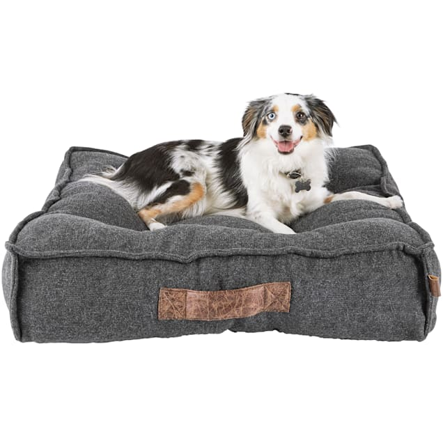 "Harmony Grey Lounger Memory Foam Dog Bed, 28"" L x 28"" W - Carousel image #1"