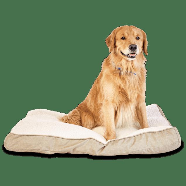 "Harmony Khaki Lounger Dog Bed, 40"" L x 30"" W - Carousel image #1"