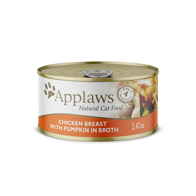 Applaws Natural Chicken Breast with Pumpkin in Broth Wet Cat Food, 2.47 oz. - Carousel image #1