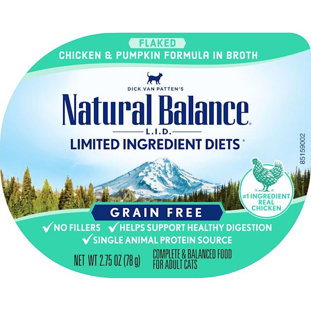 Natural Balance L.I.D. Limited Ingredient Diets Chicken & Pumpkin Formula in Broth Wet Cat Food, 2.75 oz., Case of 24 - Carousel image #1
