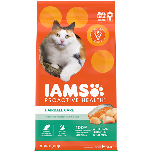 Iams ProActive Health Hairball Care Dry Cat Food, 7 lbs. - Carousel image #1
