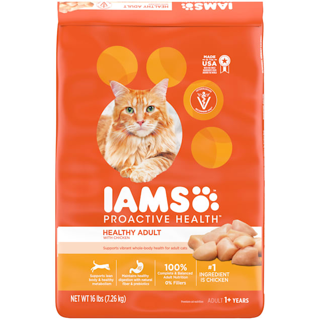 Iams ProActive Health Chicken Adult Dry Cat Food, 16 lbs. - Carousel image #1