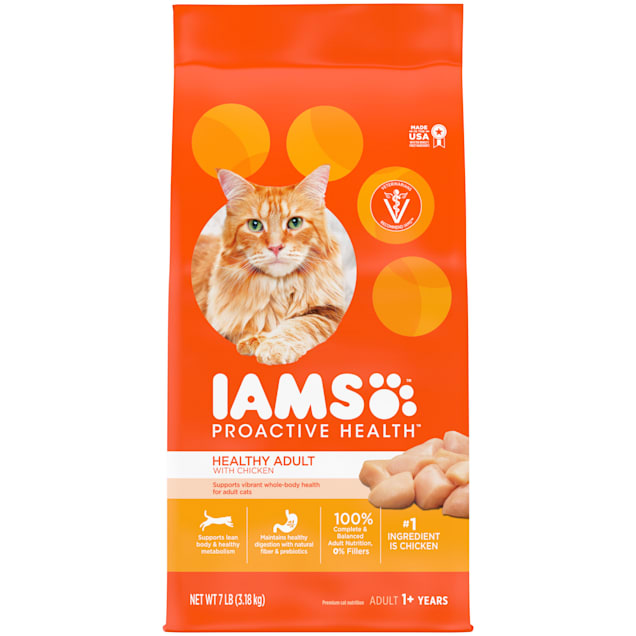 Iams ProActive Health with Chicken Adult Dry Cat Food, 7 lbs. - Carousel image #1