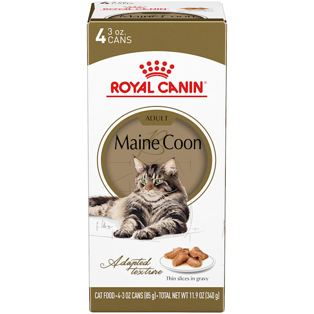 Royal Canin Maine Coon Breed Thin Slices in Gravy Adult Wet Cat Food Multipack, 3 oz., Count of 4 - Carousel image #1