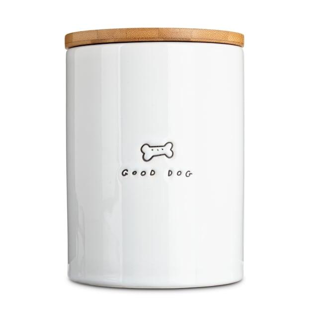 Harmony Good Dog Ceramic Dog Treat Jar, Large - Carousel image #1