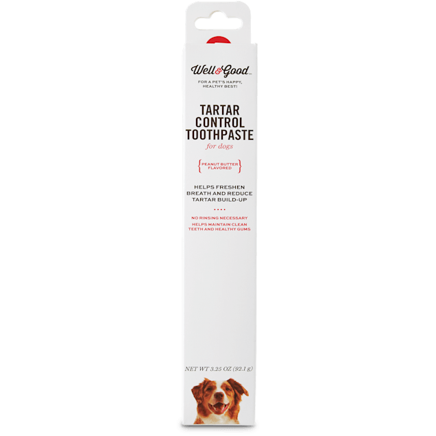 Well & Good Tartar Control Toothpaste for Dogs, Peanut Butter Flavor, 3.25 oz. - Carousel image #1