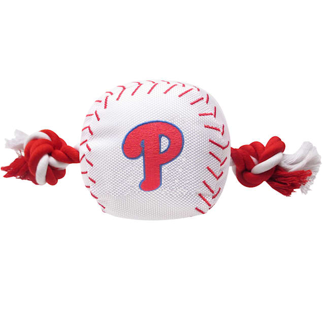 Pets First MLB Philadelphia Phillies Baseball Toy, Large - Carousel image #1