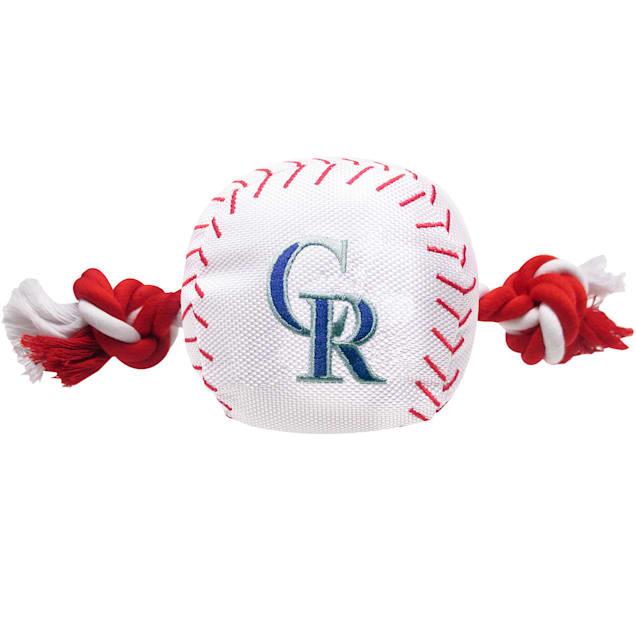 Pets First MLB Colorado Rockies Baseball Toy, Large - Carousel image #1