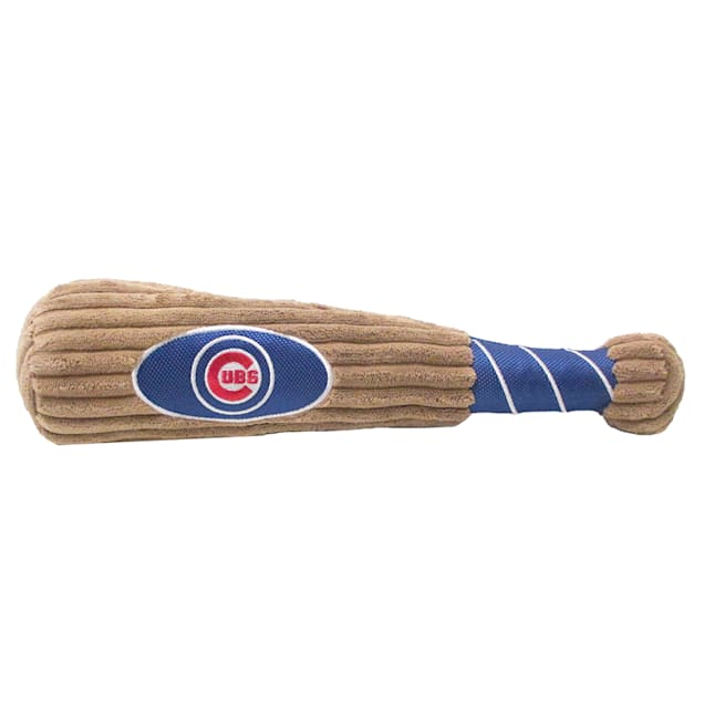 Pets First MLB Chicago Cubs Baseball Bat Toy, Large - Carousel image #1