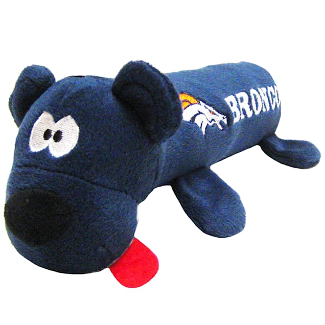 """Pets First Denver Broncos Tube Toy For Dogs, 11"""" - Carousel image #1"""