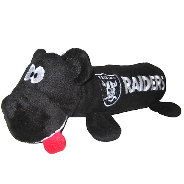 """Pets First Oakland Raiders Tube Toy For Dogs, 11"""" - Carousel image #1"""