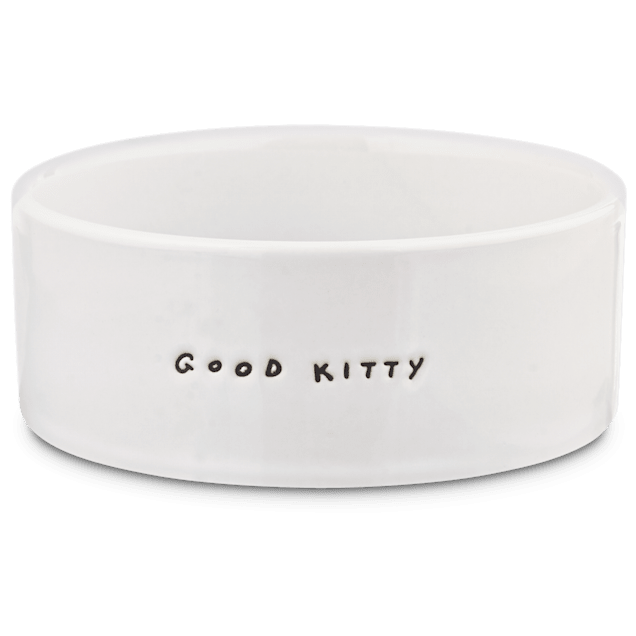 Harmony Good Kitty Ceramic Cat Bowl, 1 Cup - Carousel image #1