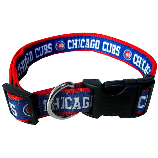 Pets First Chicago Cubs MLB Dog Collar, Small - Carousel image #1