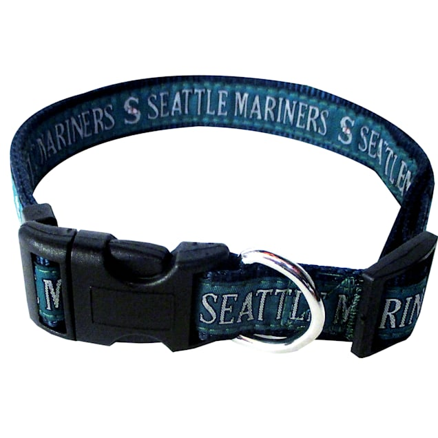 Pets First Seattle Mariners MLB Dog Collar, Small - Carousel image #1