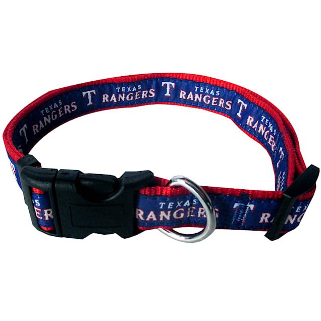 Pets First Texas Rangers MLB Dog Collar, Small - Carousel image #1