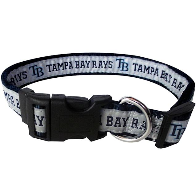 Pets First Tampa Bay Rays MLB Dog Collar, Small - Carousel image #1