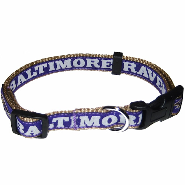 Pets First Baltimore Ravens NFL Dog Collar, Small - Carousel image #1