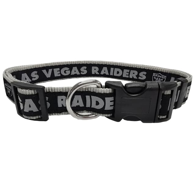 Pets First Oakland Raiders NFL Dog Collar, Small - Carousel image #1