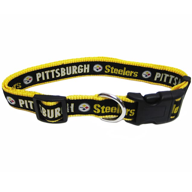 Pets First Pittsburgh Steelers NFL Dog Collar, Small - Carousel image #1