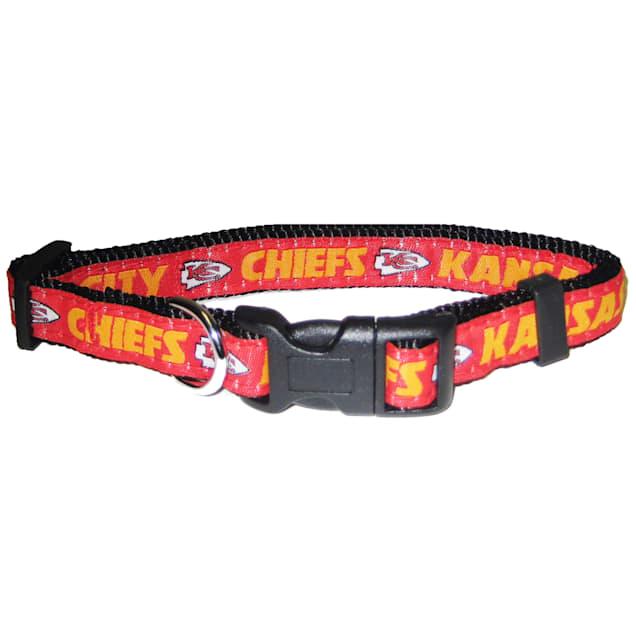 Pets First Kansas City Chiefs NFL Dog Collar, Small - Carousel image #1