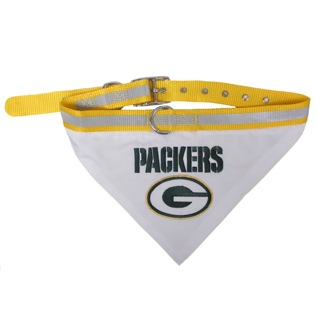 Pets First Green Bay Packers Collar Bandana, Small - Carousel image #1