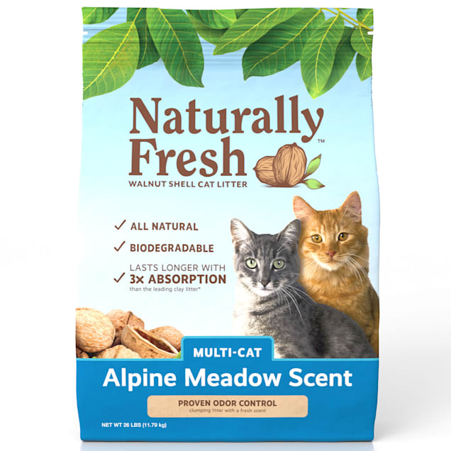 Naturally Fresh Alpine Meadow Scent Quick-Clumping Natural Multi Cat Litter, 26 lbs. - Carousel image #1