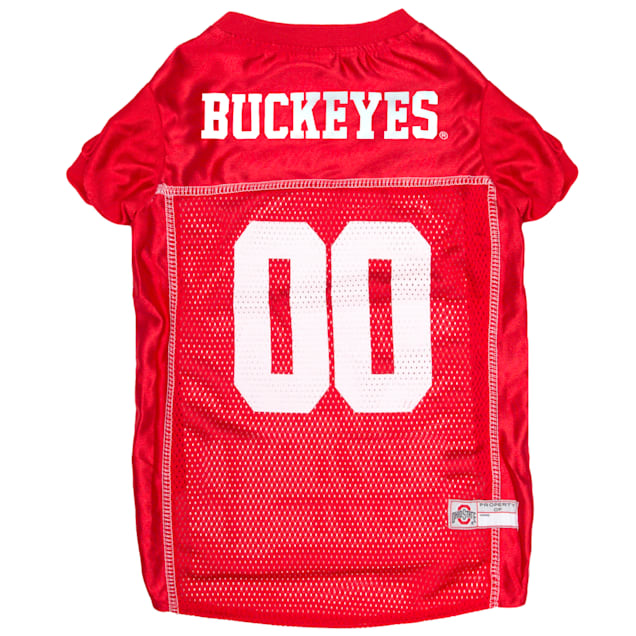 Pets First Ohio State Buckeyes NCAA Mesh Jersey for Dogs, X-Small - Carousel image #1