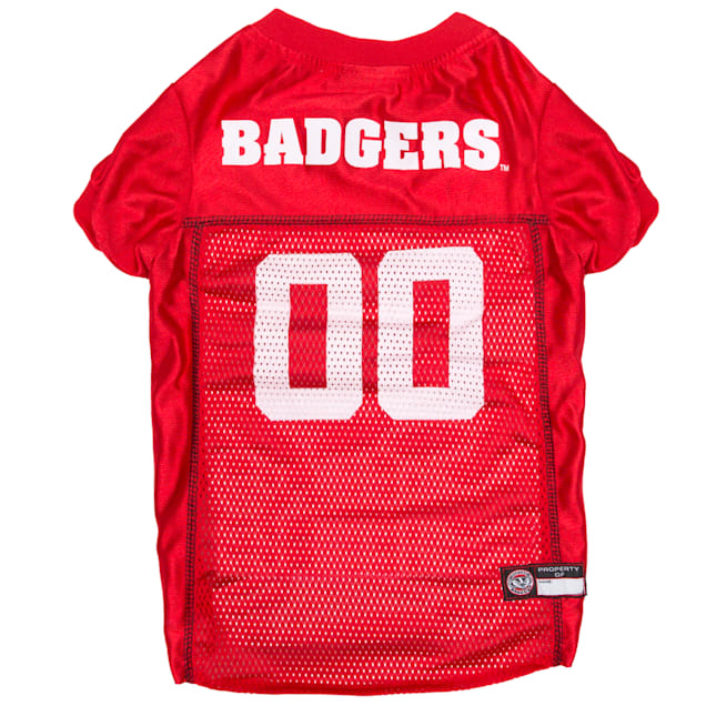 Pets First Wisonsin Badgers NCAA Mesh Jersey for Dogs, X-Small - Carousel image #1