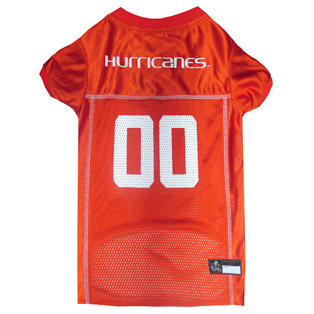 Pets First Miami Hurricanes NCAA Mesh Jersey for Dogs, X-Small - Carousel image #1