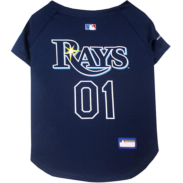 Pets First Tampa Bay Rays MLB Mesh Jersey, X-Small - Carousel image #1