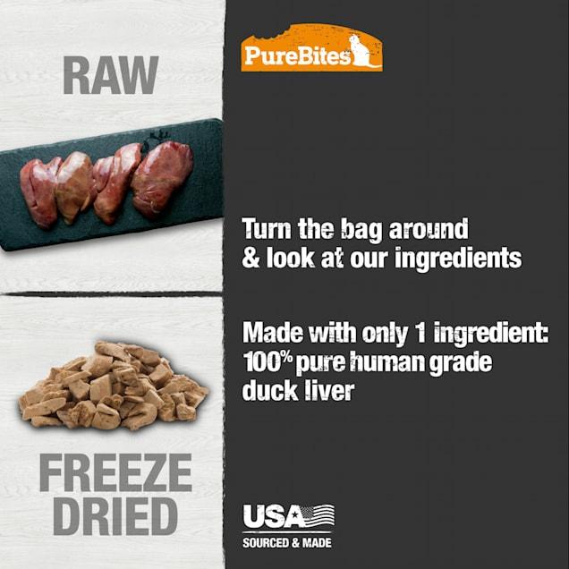 PureBites Freeze Dried Duck Value Size Cat Treats, 1.05 oz. - Carousel image #1