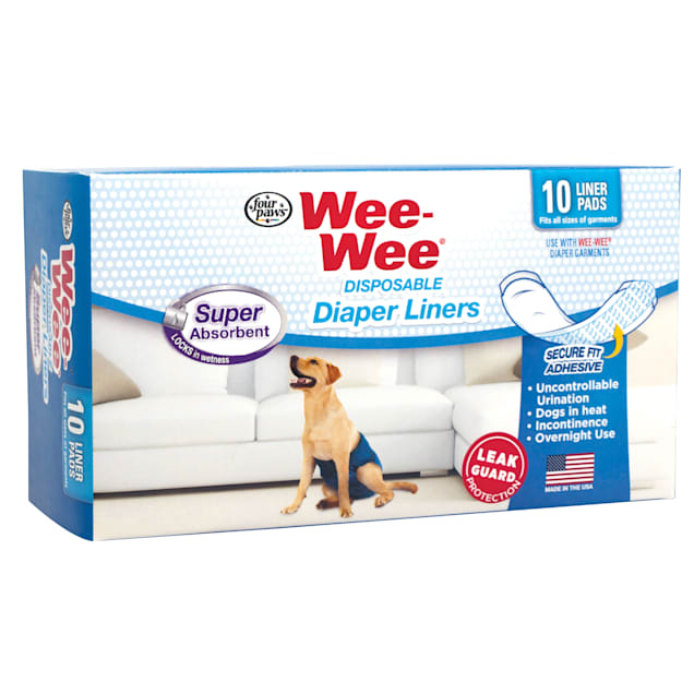 Wee-Wee Disposable Diaper Super Absorbent Liners, 10 Pack - Carousel image #1