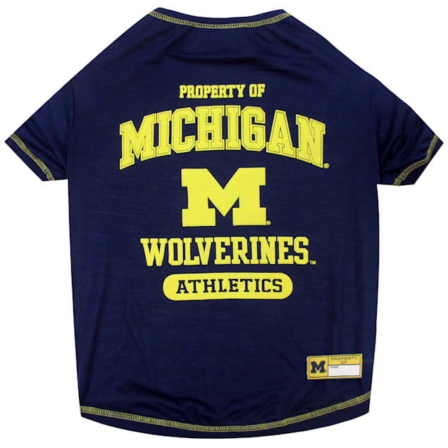 Pets First Michigan Wolverines NCAA T-Shirt for Dogs, X-Small - Carousel image #1