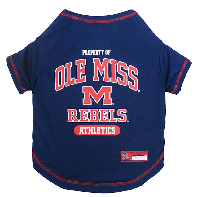 Pets First Ole Miss Rebels NCAA T-Shirt for Dogs, X-Small - Carousel image #1